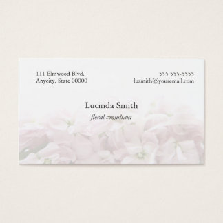 pale pink blossoms fade business card