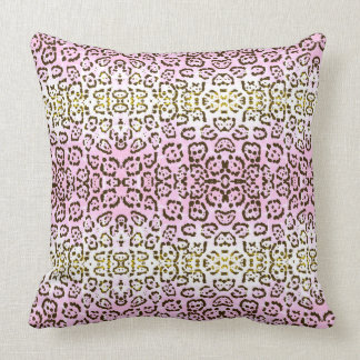 Pale Pink Cheetah Pop Art Cat Animal Print Cushion