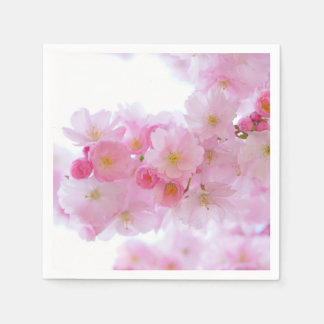 Pale Pink Cherry Blossoms Disposable Napkin