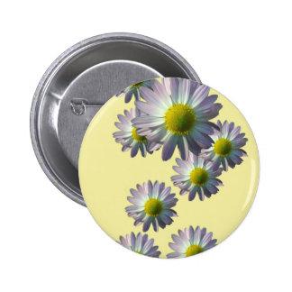 Pale Pink Chrysanthemum Design Button