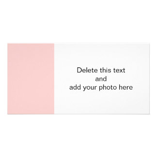 Pale Pink Classic Colored Photo Card Template