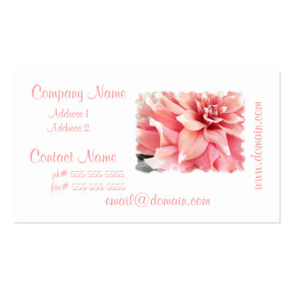 Pale Pink Dahlia Business Cards