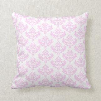 Pale pink damask pillow
