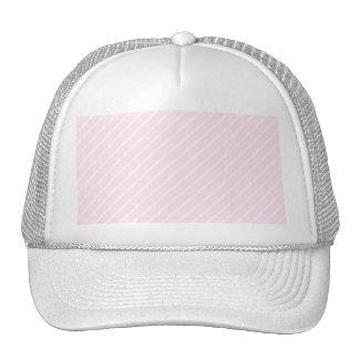 Pale pink Diagonal Stripes. Trucker Hat