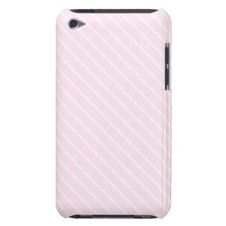 Pale pink Diagonal Stripes. iPod Touch Case-Mate Case