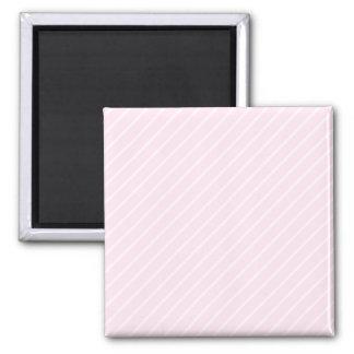 Pale pink Diagonal Stripes. Square Magnet