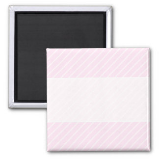 Pale pink Diagonal Stripes. Square Magnet