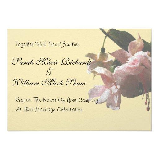 Pale Pink Fuchsia Personalized Invites