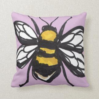 Pale Pink Humble Bumblebee Cushion