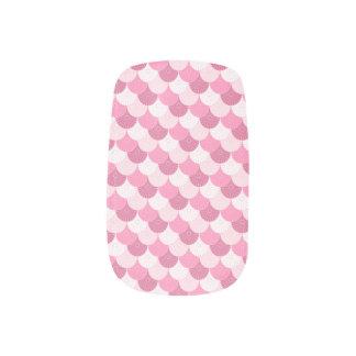 Pale Pink Kawaii Scallop Pattern Fingernail Transfer