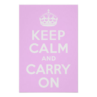 Pale Pink Keep Calm and Carry On Print