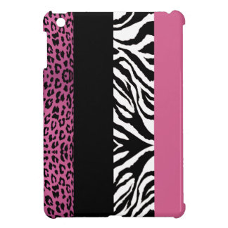 Pale Pink Leopard and Zebra Custom Animal Print Case For The iPad Mini