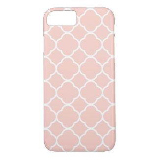 Pale Pink Moroccan Quatrefoil iPhone 7 Case