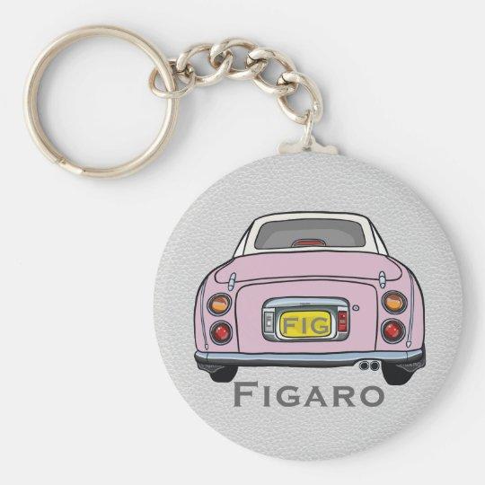 Pale Pink Nissan Figaro Custom Keyring