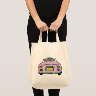 Pale Pink Nissan Figaro Tote Bag