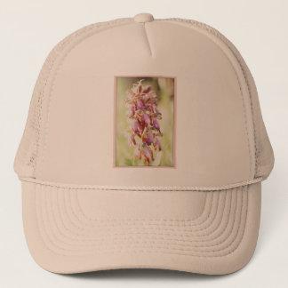 Pale pink orchids trucker hat