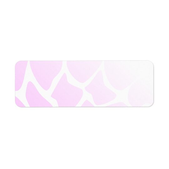 Pale Pink Pattern. Return Address Label
