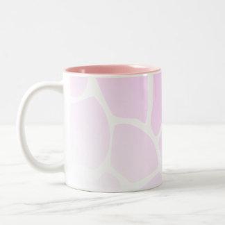 Pale Pink Pattern. Two-Tone Coffee Mug