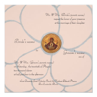 Pale Pink Petals 13 Cm X 13 Cm Square Invitation Card