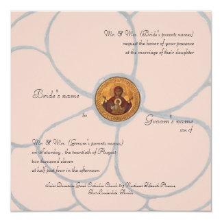 Pale Pink Petals 13 Cm X 13 Cm Square Invitation Card