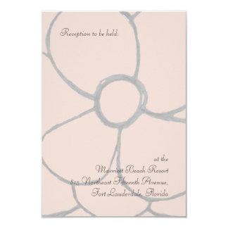 Pale Pink Petals Reception Custom Invitations