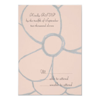 Pale Pink Petals RSVP Personalized Invite