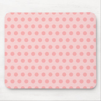 Pale Pink Polka Dots Mouse Mat