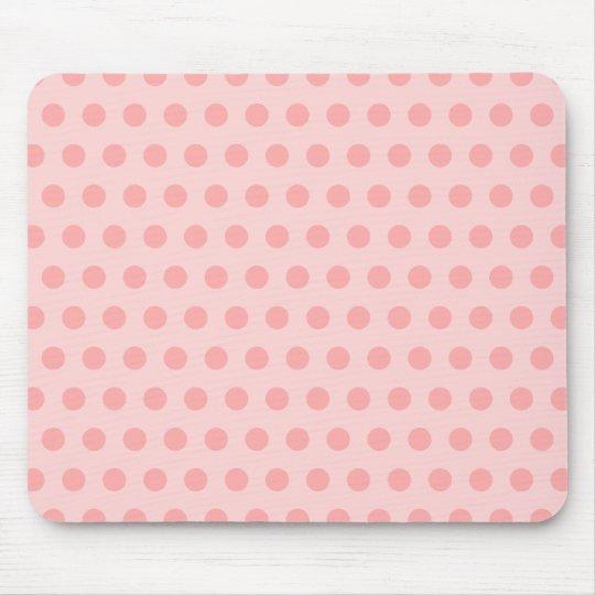 Pale Pink Polka Dots Mouse Mat