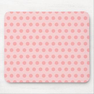 Pale Pink Polka Dots Mouse Pad