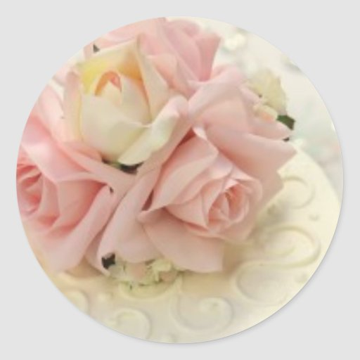 Pale Pink Rose Bouquet Stickers