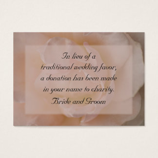Pale Pink Rose Floral Wedding Charity Card