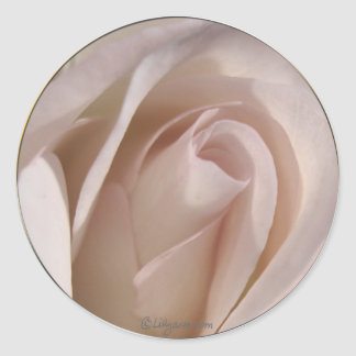 Pale Pink Rose Wedding Invitation Seal Stickers