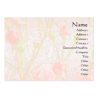 Pale Pink Rosebuds 1 Profile Card Pack Of Chubby Business Cards