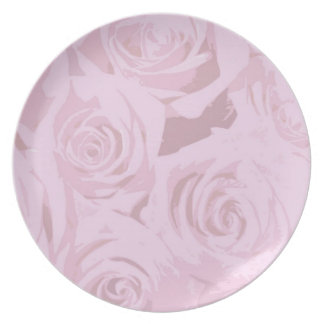 Pale pink roses Plates