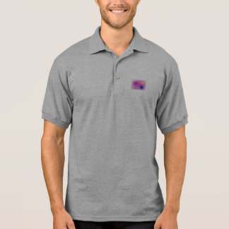 Pale Pink Simple Abstract Composition Polo T-shirt