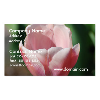 Pale Pink Tulip Business Cards