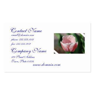 Pale Pink Tulip Business Card Templates