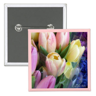 Pale Pink Tulip Flowers Pin