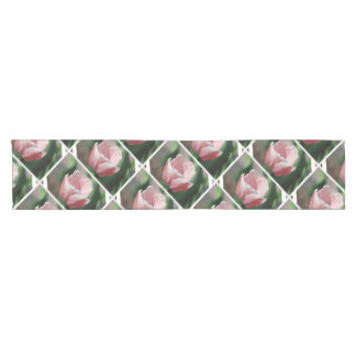 Pale Pink Tulip Short Table Runner