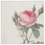 Pale pink vintage roses painting textile fabric