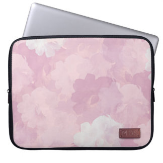 Pale Pink Watercolor Roses Laptop Sleeve