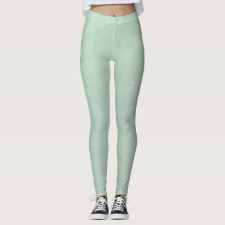 Pale pistachio marbled green leggings