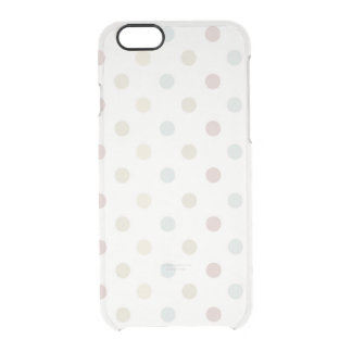 Pale Polka Dot Clear iPhone 6/6S Case