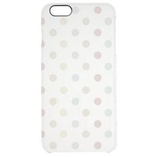 Pale Polka Dot Clear iPhone 6 Plus Case