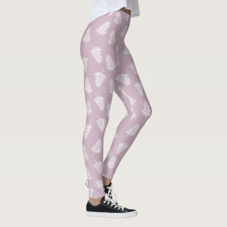 Pale purple and fern leggings