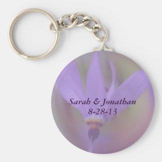 Pale Purple Flower Wedding Keychain