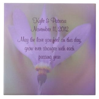 Pale Purple Flower Wedding Tile