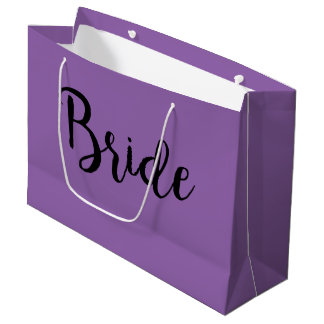 Pale purple gift bag for bride