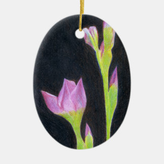 Pale Purple Iris Christmas Ornament