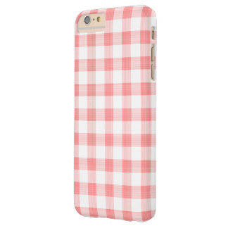Pale Red Gingham Barely There iPhone 6 Plus Case